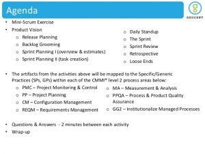project overview template geocent scrum cmmi without animations