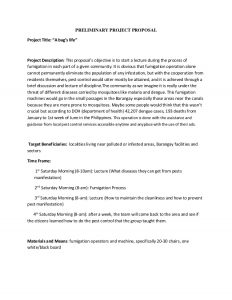 project proposal example nstp project proposal