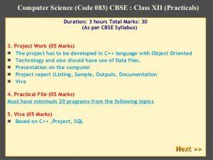 project report sample computer science code cbse class xii practicals