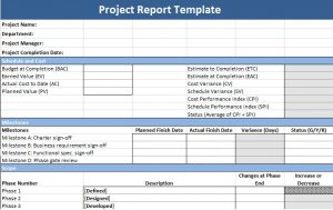 project report template project report template