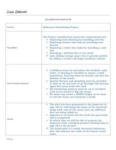 project scope document business management final project
