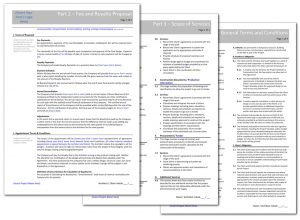 project scope document sample pages royalty fee