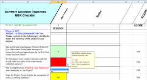 project scope template software selection readiness