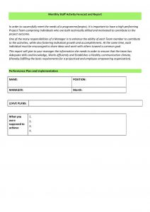 project summary template page px employee performance review template pdf