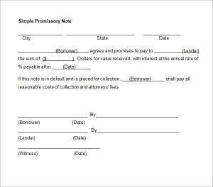 promissory note template word promissory note template word