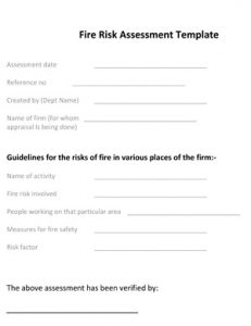 promissory note templates word fire risk assessment template