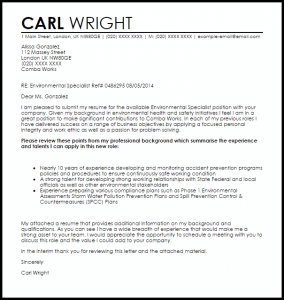 promotion letter templates environmental specialist