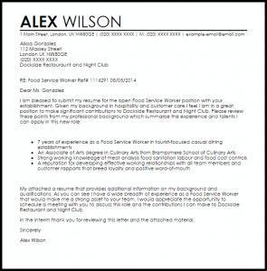 promotion letter templates food service worker