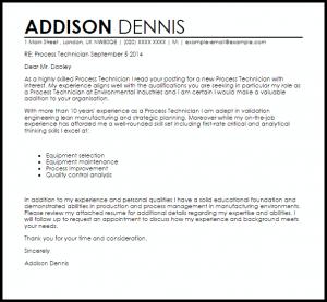 promotion letter templates process technician