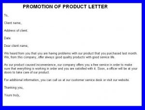 promotional letter templates promotion of product letter