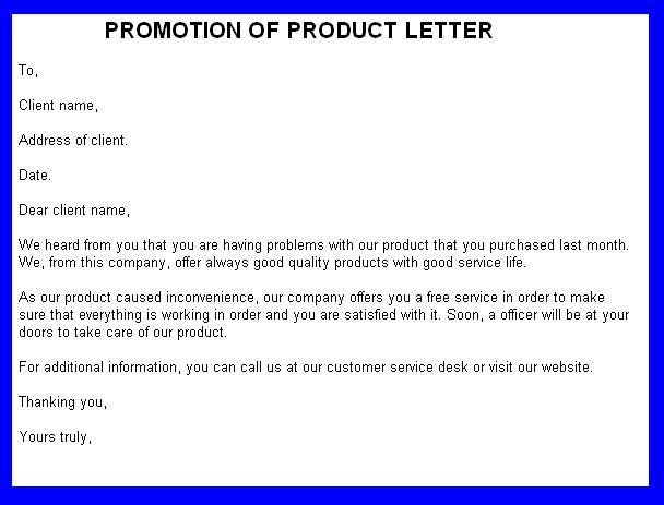 promotional letter templates