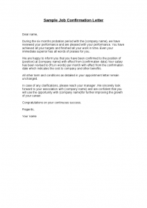 proof of income documents sample job confirmation letter