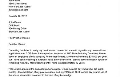 proof of income free sample proof of income letter
