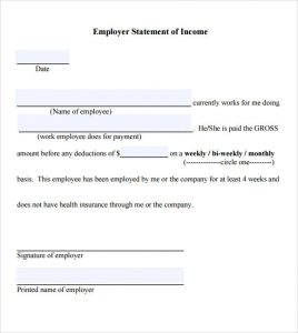 proof of income proof of income letter template pdf