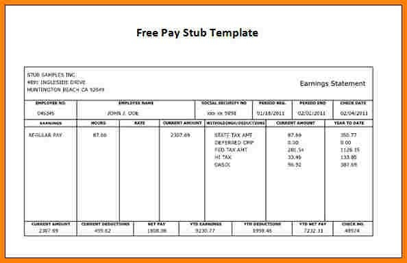 proof of income template