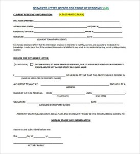 proof of residency letter notarized notarized letter template free word pdf documents download blank notarized letter for proof of residency template pdf format