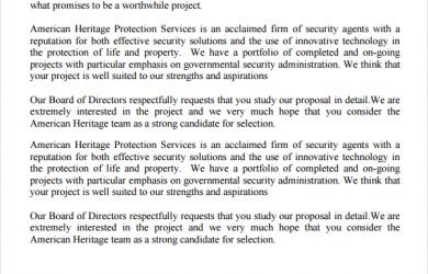 proposal for services security service proposal template