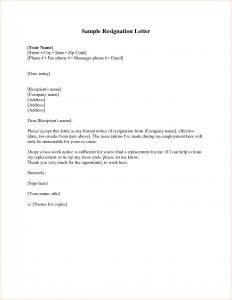 proposal letter sample week notice resignation