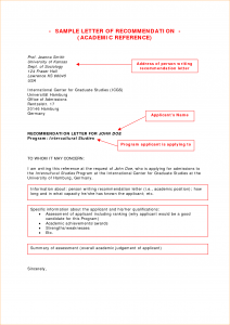 proposal letter template academic recommendation letter example