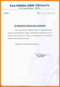 proposal letter template experience certificate format for teacher