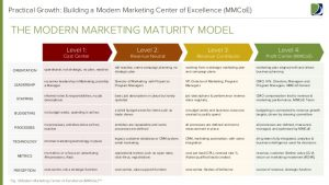 proposal outline template modern marketing center of excellence report