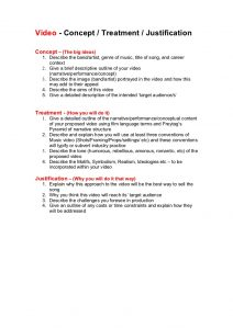 proposal outline template video concept treatment and justification