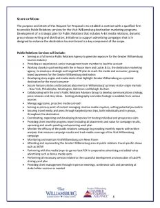 proposal outline template visit williamsburg pr agency request for proposal rfp