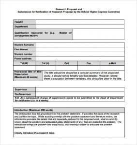proposal template word word proposal template example