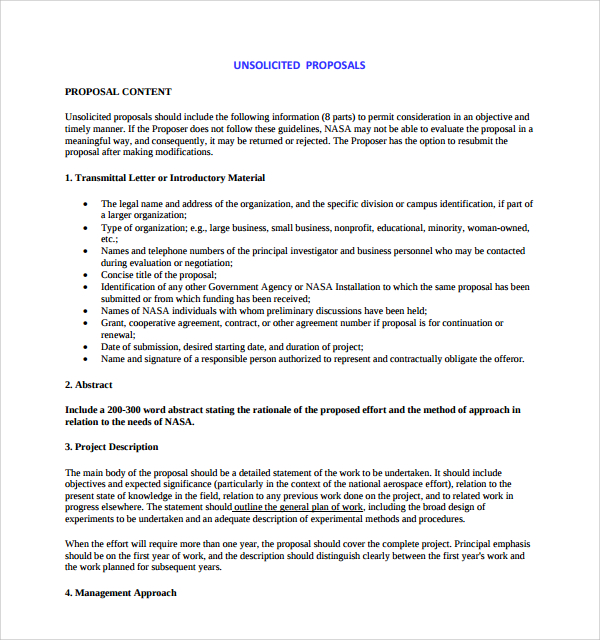 proposal writing example
