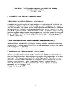 psychology case study examples kidney disease case study