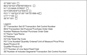 purchase order example graphic example of a purchase order in edi standard formatgcddabff efc da d