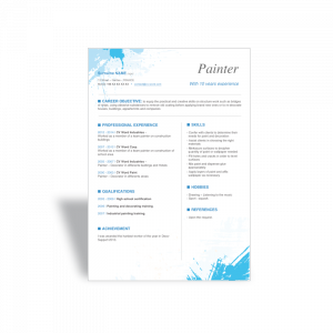 purchase order templates word word cv resume template painter