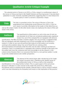 qualitative research examples qualitative article critique example