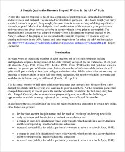 qualitative research examples qualitative research proposal sample