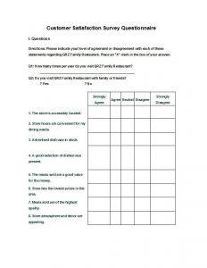 questionnaires templates word questionnaire template
