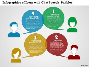 quote templates word business ppt diagram infographics of icons with chat speech bubbles powerpoint template slide
