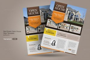 real estate brochure templates graphic river real estate open house flyers kinzi