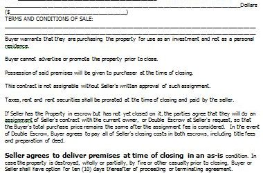 real estate contract as is real estate contract