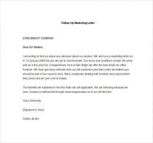 real estate letter of intent sample follow up marketing letter
