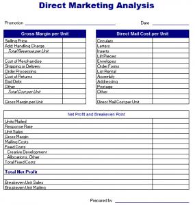 real estate marketing plan template direct marketing analysis template