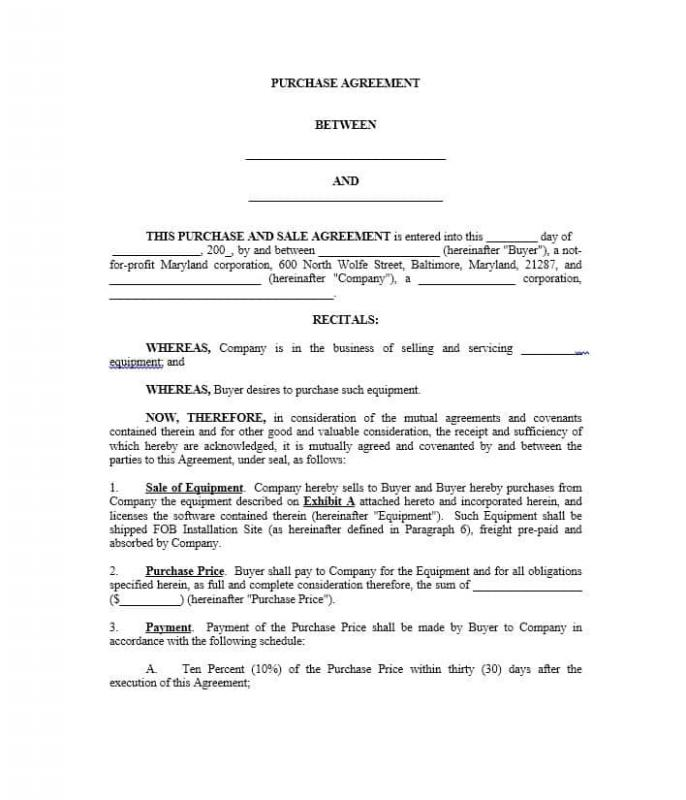 real estate purchase agreement template