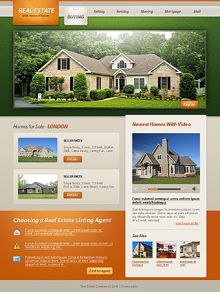 real estate templates