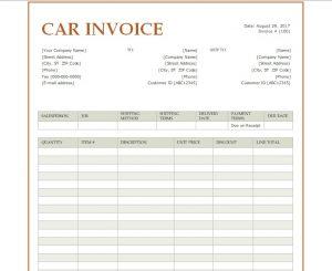 model of receipt doc model of bill of sale of car word