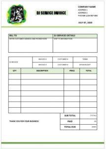 receipt template doc invoice template dj
