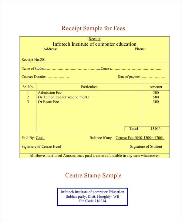 receipt template pdf