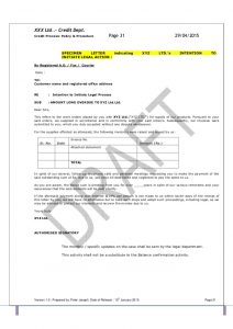 receipt template pdf template credit policy and related sops pdf