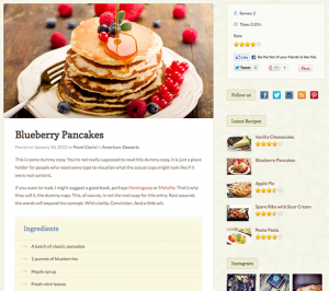 recipe page templates petit recipe page