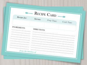 recipe template for word bride co recipe card
