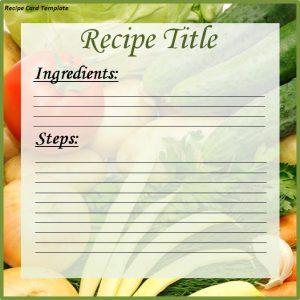 recipe template for word recipe card template