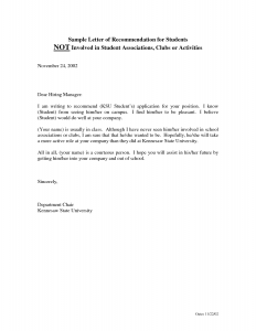 recommendation letter for high school student sample recommendation letter for student gsesdxw